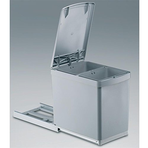 Wesco Built In Pull Out Bin 15l 2 Compartments