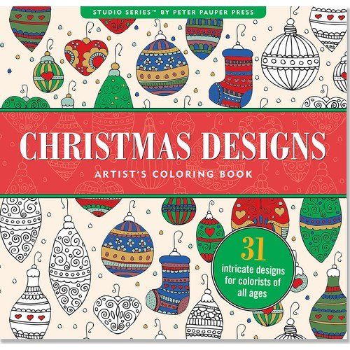 christmas designs adult coloring book