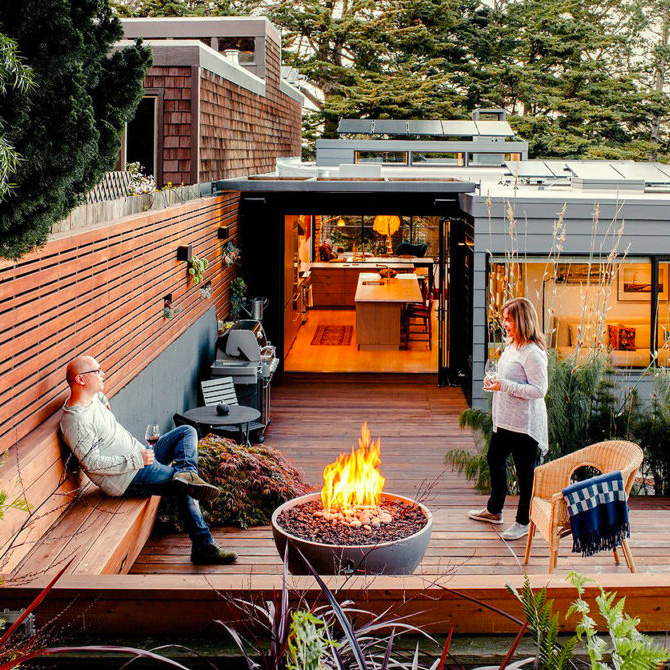 Modern Backyard Ideas With Outdoor Fireplace Or Fire Pit Colour My Living